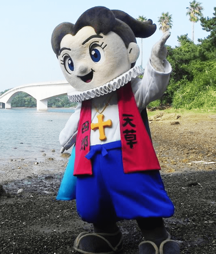 Praying Costumed Mascot Character